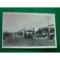 Antigua Postal Animada Mar De Ajo Colectivo Carro Tienda