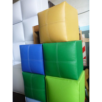 Puff Cubo Sillones Placer 0.40x0.40 Fabrica!!!
