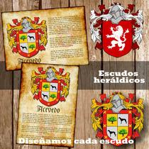 Escudos Apellidos Heraldica A Pedido Para Imprimir