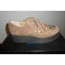 Zapatos Mocasines Gamuza Nazaria. Taller 36