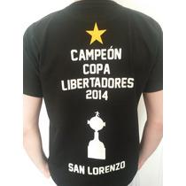 Remera San Lorenzo Campeon Libertadores 2014 Regalo Navidad