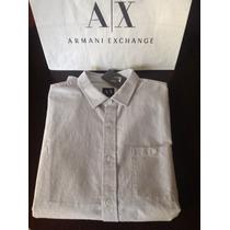Armani Exchange Camisa Importada Slim Fit Original Talle Xl