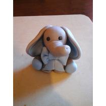 Elefante Bebe De Porcelana Fria. Adorno De Torta O Souvenirs