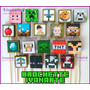 Minecraft 10 Brochettes Souvenirs Personajes O Tu Foto Mira!