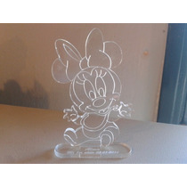 Souvenir Minnie Bebe En Acrilico 8cm X 5cm Grabado Laser