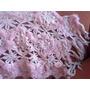 Chal De Lana Tejido Al Crochet Con Apliques De Plumitas