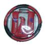 Kit Cubre Volante Bocha Cubre Cinturon Cufia Rojo