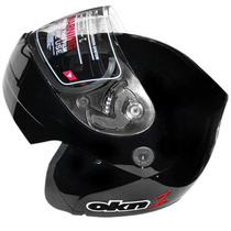 Casco Rebatible Okinoi Negro Clasico 2014 En Freeway Motos!