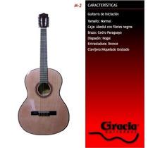 Guitarra Criolla Gracia M-2 Con Funda Acolchada De Regalo