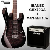 Guitarra Ibanez Grx70qa Gio + Amplificador Marshall 15w