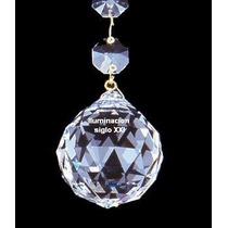 Esfera De Cristal Facetada 40mm Araña, Aplique, Caireles