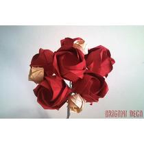 Bouquets Novia Ramos Rosas Papel Origami- Hermoso Y Original