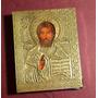 Antiguo Icono Religioso Ruso De Plata - Sellado