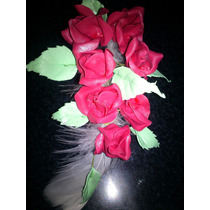 Ramo De Rosas De Porcelana