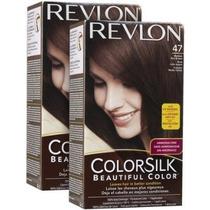 Revlon Colorsilk N 47 Castaño Medio Pack X2 Un V Beautyshop