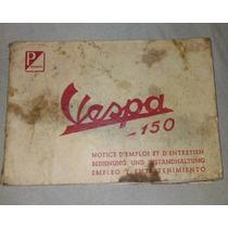 Manual Original Moto Vespa 150 Antigüedad Colección