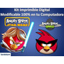 Kit Imprimible Candy Bar Angry Birds Star Wars + Space