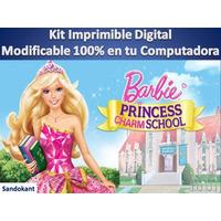 Kit Imprimible Barbie Escuela De Princesas Torta Cumpleaños