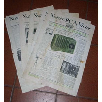 Radio Rca Victor Antiguos Diarios Novedades Tecnicas (3448r)