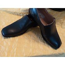 Zapato De Vestir Sin Cordon De Cuero Real