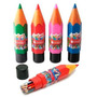 24 Lapices De Color Simball Largos + Contenedor Tubo Lapiz