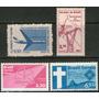 Brasil 4 Sellos Nuevos Aéreos = Avión A Reacción Años 1959-1