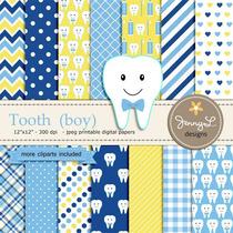 Kit Imprimible Tooth Boy 14 Fondos 13 Clipart *promo*