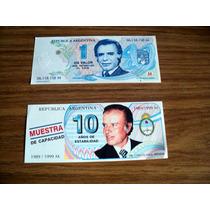Lote De Dos Billetes Memen Campaña 1 Papel Moneda Otro No