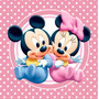 Kit Imprimible Minnie Bebe Mickey Bebe Candy Bar Deco Invita