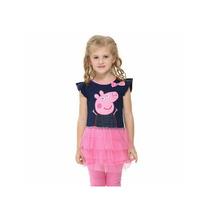 Vestido Disfraz Peppa Pig Tull Nena. T. 4 A 6 Años. Divino