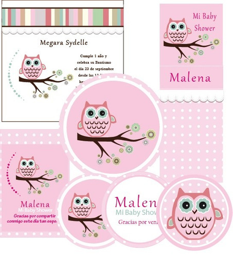 Etiquetas Redondas Para Baby Shower Para Imprimir Gratis