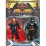2 Muñecos Articulados Batman Vs Superman 16c Down Of Justice
