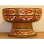 Antiguo Centro Mesa/frutera Van Hett,ceramica Roja Esmaltada