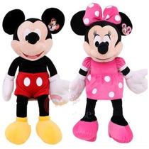 Muñeco Peluche De Mickey 28cm Y Minnie 26cm Aprox.y Musica