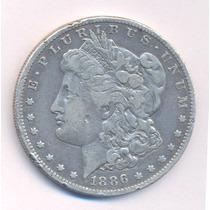 Usa Morgan Dolar 1886 Letra O Plata Silver Crown Km 110