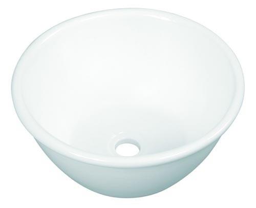 Bachas Loza Para Baño:Bacha Loza Apoyo Vanitory Baño Porcelana Blanca Nahuel $36294 a7KyP