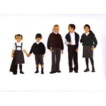 Pantalones Gris Colegial De Sarga Y Alpaca. Talles 4 Al 54
