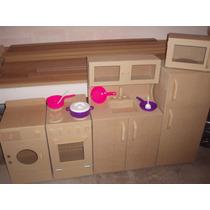 Muebles Infantiles Kit Completo Sin Pintar