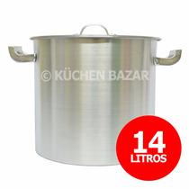 Olla Gastronómica De Aluminio Reforzada - Nro 26 - 14 Litros