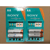Pilas Recargables Sony Cycle Energy Aa 4600mah Oferta !!