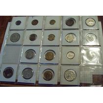 Colección Monedas De Francia 17 Unidades Con Carton Y Hoja