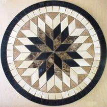 Rosetón Rombos Porcelanato Cerámico - Guardas Bachas, Mallas