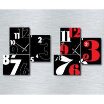 Reloj De Pared Cuadro Tríptico 70x70 Cm Diseños Modernos
