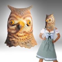 Mascara Latex Buho Lechuza Owl Animal Loco Disfraz Cosplay