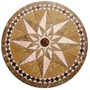 Rosetón Estrella Porcelanato Cerámico - Guardas Bachas