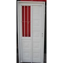 Puerta De Chapa Con Reja Lateral 80x200 Oferta Aberturas Leo