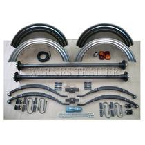 Kit 58 - Doble Eje - Elásticos+balancín+accesorio P/ Trailer