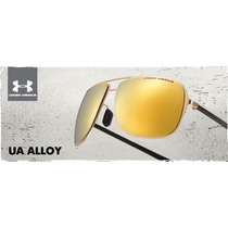 Anteojos Under Armour Ua Alloy-satin Gold Polarizado
