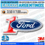 Calcomanias, Stickers, Domes C/relieve, Autos Ford Numero 1