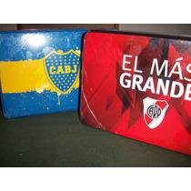 Cofre Con Juego De Sabanas Boca & River Plate